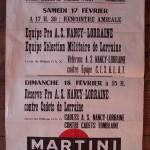 Affiche Nancy-Sélection Lorraine militaire - Saison 1967-1968 - Match amical (17/02/1968)