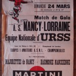 Affiche Nancy-URSS - Saison 1967-1968 - Match amical (24/03/1968)