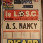 Affiche Lille-Nancy - Saison 1975-1976 - D1 (12e j., 03/11/1975)