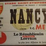 Affiche Metz-Nancy - Saison 1981-1982 - D1 (9e j., 12/09/1981)