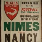 Affiche Nîmes-Nancy - Saison 1983-1984 - D1 (2e j., 27/07/1983)