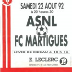 Affiche Nancy-Martigues saison 92/93