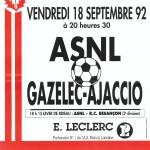 Affiche Nancy-Gazelec Ajaccio saison 92/93