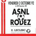 Affiche Nancy-Rodez saison 92/93