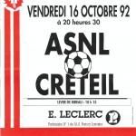 Affiche Nancy-Créteil saison 92/93