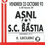 Affiche Nancy-Bastia saison 92/93