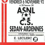 Affiche Nancy-Sedan saison 92/93
