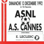 Affiche Nancy-Cannes saison 92/93