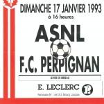 Affiche Nancy-Perpignan saison 92/93