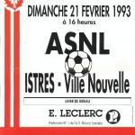 Affiche Nancy-Istres - Saison 1992-1993 - D2 (24e j., 21/02/1993)
