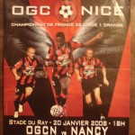 Affiche Nice-Nancy - Saison 2007-2008 - L1 (21e j., 20/01/2008)