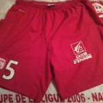 Short porté par Bellugou (Saison 2014-2015 , collection ASNL-infos)