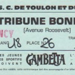 Billet Toulon-Nancy - Saison 1983-1984 - D1 (j; 15, 22/10/1983)