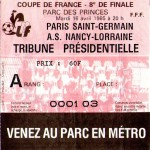 Billet Paris SG-ASNL - Saison 1984-1985 - Coupe-de-France (8e de finale, 16/04/1985)