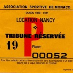 Billet Monaco-Nancy - Saison 1984-1985 - D1 (13e j., 19/10/1984)