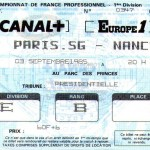 Billet Paris SG-Nancy - Saison 1985-1986 - D1 (10e j., 03/09/1985)
