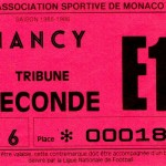 Billet Monaco-Nancy - Saison 1985-1986 - D1 (35e j., 04/04/1986)