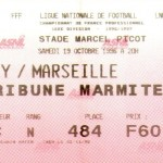 Billet Nancy-Marseille - Saison 1996-1997 - D1 (13e j., 19/10/1996)