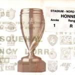 Billet Wasquehal-ASNL - Saison 1997-1998 - Coupe de la Ligue (1er tour, 11/11/1997)