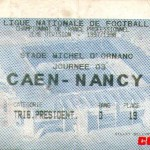 Billet Caen-Nancy - Saison 1997-1998 - D2 (3e j., 16/08/1997)