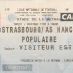 Billet Strasbourg-Nancy - Saison 1998-1999 - D1 (12e j., 07/11/1998)