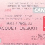 Billet Nancy-Marseille - Saison 1998-1999 - D1 (13e j., 10/11/1998)