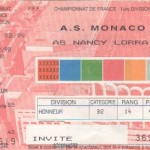 Billet Monaco-Nancy - Saison 1998-1999 - D1 (17e j., 03/12/1998)