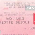 Billet Nancy-Auxerre - Saison 1998-1999 - D1 (18e j., 12/12/1998)