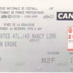 Billet Nantes-Nancy - Saison 1998-1999 - D1 (19e j., 16/12/1998)