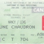 Billet Nancy-Lens - Saison 1998-1999 - D1 (20e j., 19/12/1998)