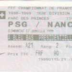 Paris SG-Nancy - Saison 1998-1999 - D1 (21e j., 17/01/1999)