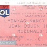 Billet Lyon-Nancy - Saison 1998-1999 - D1 (23e j., 06/02/1999)