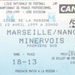 Billet Marseille-Nancy - Saison 1998-1999 - D1 (29e j., 15/04/1999)