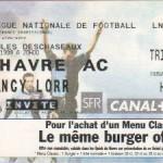 Billet Le Havre-Nancy - Saison 1998-1999 - D1 (31e j., 01/05/1999)