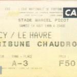 Billet Nancy-Le Havre - Saison 1999-2000 - D1 (3e j., 14/08/1999)