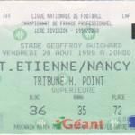 Billet St-Étienne-Nancy - Saison 1999-2000 - D1 (4e j., 20/08/1999)