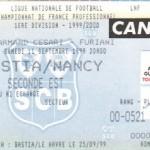 Billet Bastia-Nancy - Saison 1999-2000 - D1 (6e j., 11/09/1999)