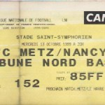 Billet Metz-Nancy - Saison 1999-2000 - D1 (10e j., 13/10/1999)