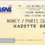 Billet Nancy-Paris SG - Saison 1999-2000 - D1 (11e j., 16/10/1999)