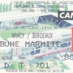 Billet Nancy-Bordeaux - Saison 1999-2000 - D1 (13e j., 30/10/1999)