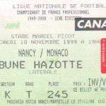 Billet Nancy-Monaco - Saison 1999-2000 - D1 (15e j., 10/11/1999)