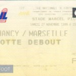 Billet Nancy-Marseille - Saison 1999-2000 - D1 (17e j., 27/11/1999)