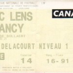 Billet Lens-Nancy - Saison 1999-2000 - D1 (21e j., 12/01/2000)