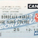 Billet Bordeaux-Nancy - Saison 1999-2000 - D1 (29e j., 25/03/2000)