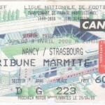 Billet Nancy-Strasbourg - Saison 1999-2000 - D1 (30e j., 08/04/2000)