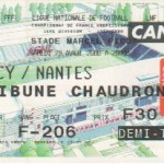 Billet Nancy-Nantes - Saison 1999-2000 - D1 (32e j., 29/04/2000)