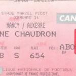 Billet Nancy-Auxerre - Saison 1999-2000 - D1 (34e j., 13/05/2000)