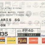 Billet Nancy-Paris SG - Saison 2000-2001 - Coupe de la Ligue (16e de finale, 07/01/2001)