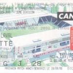 Billet Nancy-Laval - Saison 2000-2001 - D2 (2e j., 06/08/2000)