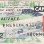 Billet Nancy-Beauvais - Saison 2000-2001 - D2 (4e j., 19/08/2000)